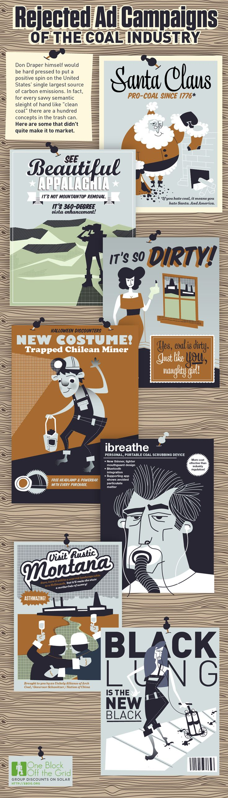 1Bog Infographic: Rejected Ad Campaigns Of The Coal Industry