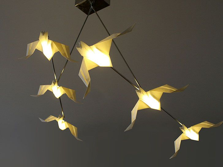 Chilean design studio Si Studio's gorgeous origami lamps were a big hit at Milan Design Week. The oversized origami creatures were inspired by nature, folded into meticulous animal shapes. Each durable lamp casts a warm glow, while also bringing artistic design to any room.