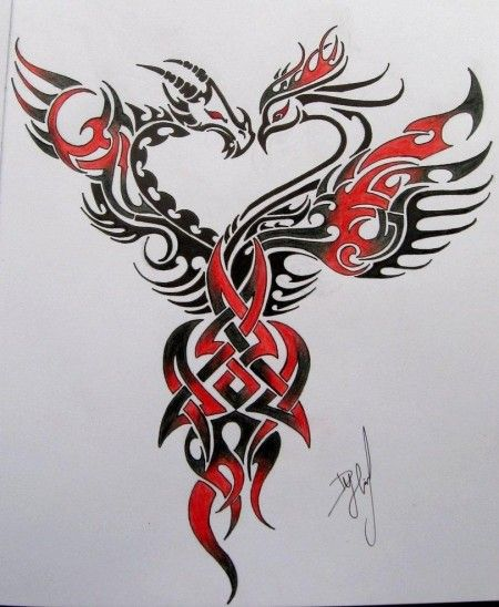 Phoenix tattoo design One I haven't seen before