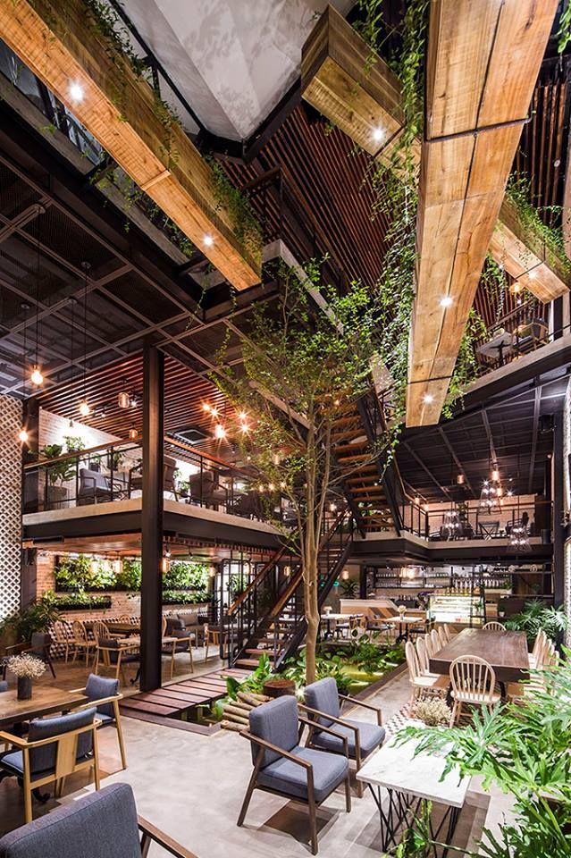 A Secret Garden Cafe In Hanoi Designed By Le House Cafe Interior Design Cafe Design Garden Cafe