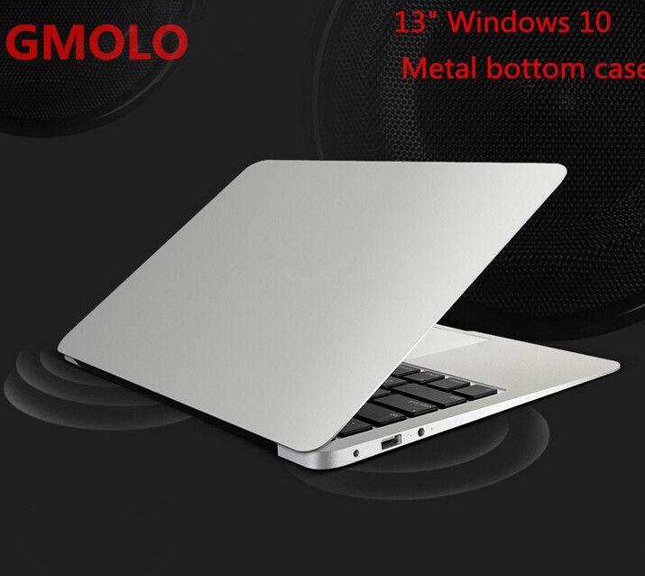 13.3inch windows 10 ultrabook laptop computer 2GB 64GB EMMC 1920*1080 HD screen aluminium back case notbook PC