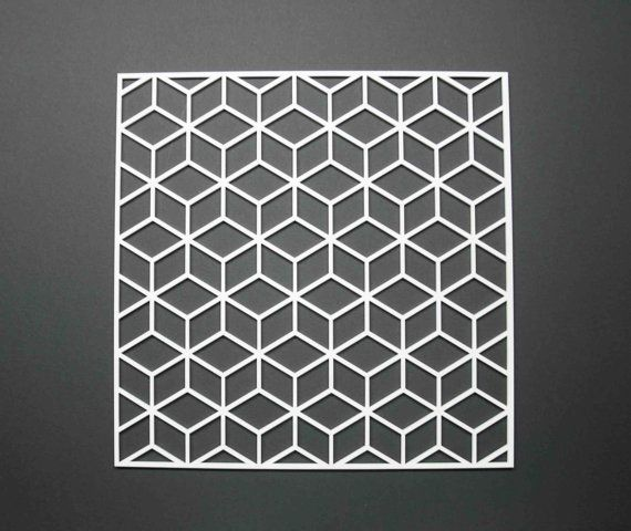 Placemat cubic geometry perspex wedding gift present by ByCharlie