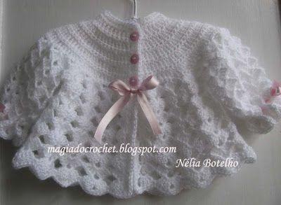 Magia do Crochet: casaco em crochet para bebé