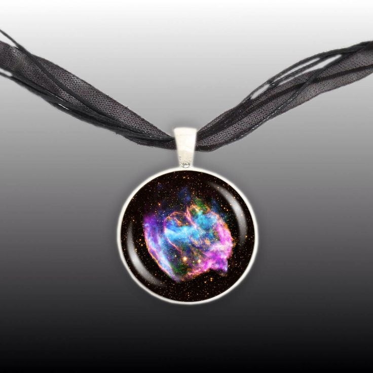 W49B Supernova Remnant Black Hole & Nebula in the Constellation Aquila Space Pendant Necklace in Silver Tone by AutumnsGlory on Etsy https://www.etsy.com/listing/196526823/w49b-supernova-remnant-black-hole-nebula