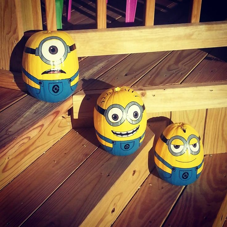 Despicable Me Minions Pumpkins Done By My Wife : pics