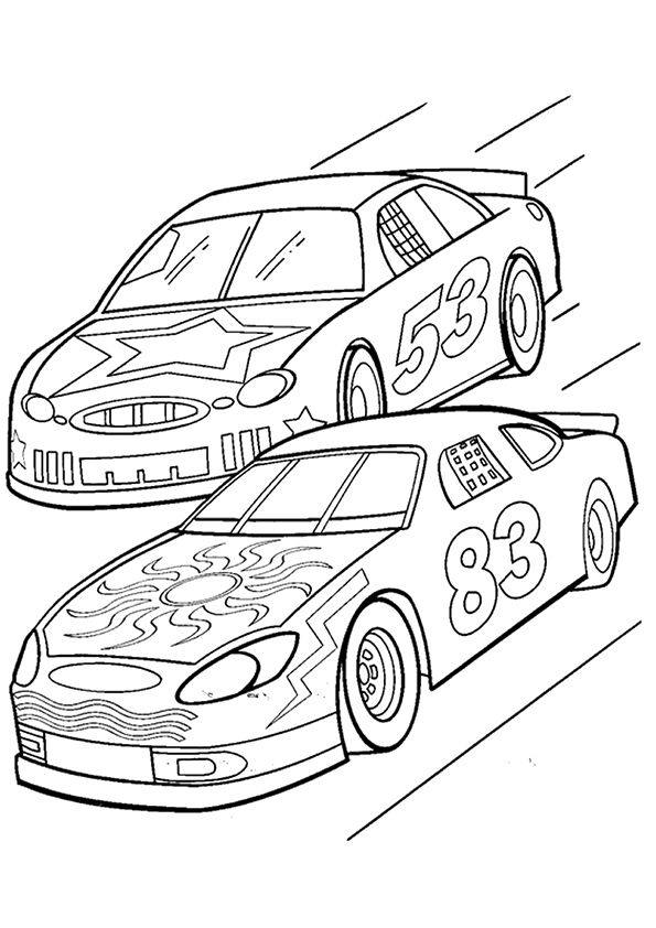 The Sports Nascar Race Car Coloring Pages Truck Coloring Pages