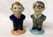 VERY HIGH QUALITY VINTAGE POLITICAL SALT & PEPPER SET. TONY BLAIR & JOHN MAJOR