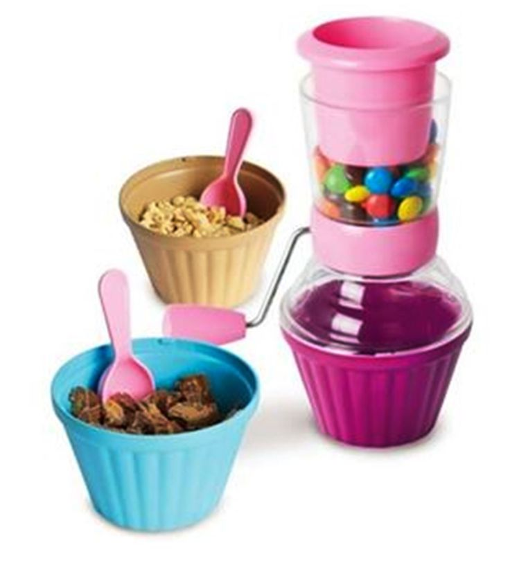 CANDY CRUSHER Nuts Cookies Candies Ice Cream Icecream Sundae 7 PIECE BPA FREE
