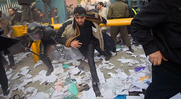 Iranian protesters storm the British Embassy in Tehran // Nov. 29th, 2011