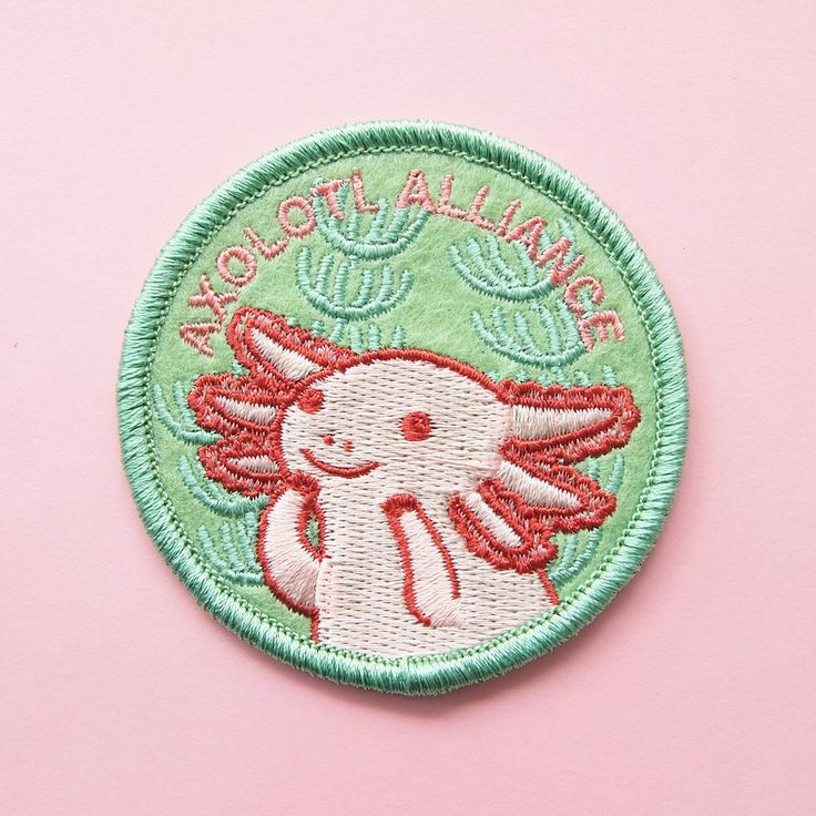 Axolotl Alliance Patch - Pink