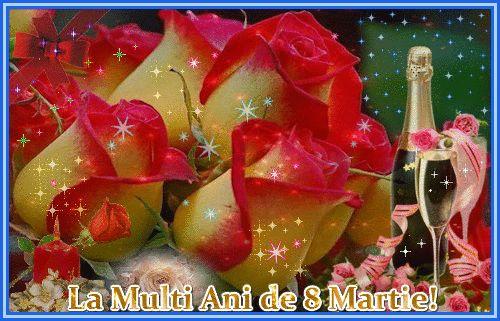 Felicitare de 8 Martie: