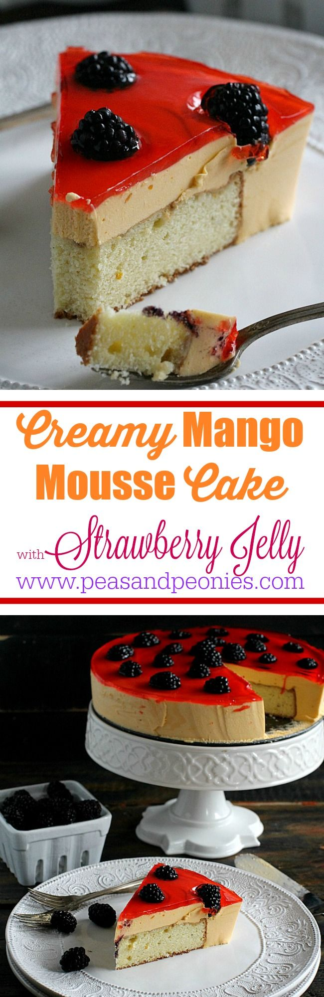 Best Mango Mousse Cake - Peas and Peonies