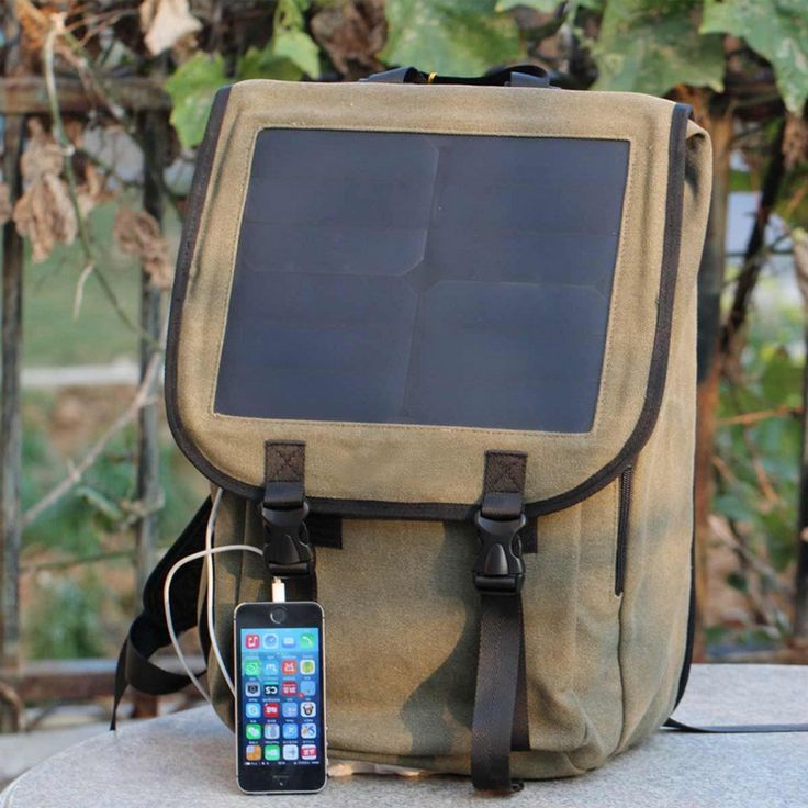 Solar Power Panel School Backpack Phone Laptop Tablet Charger