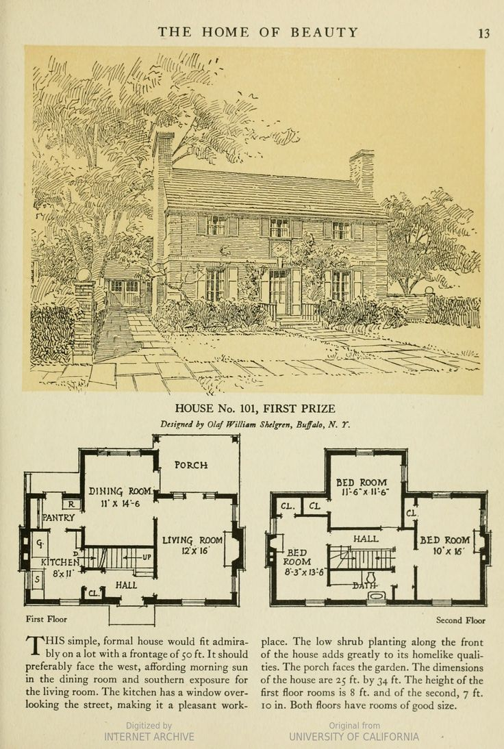 vintage house plans. The Home Of Beauty; Published: Chicago, Ill. : American Face Brick · Vintage House PlansVintage Plans