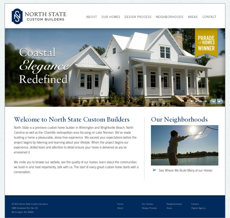 North State Custom Builders | Website Design