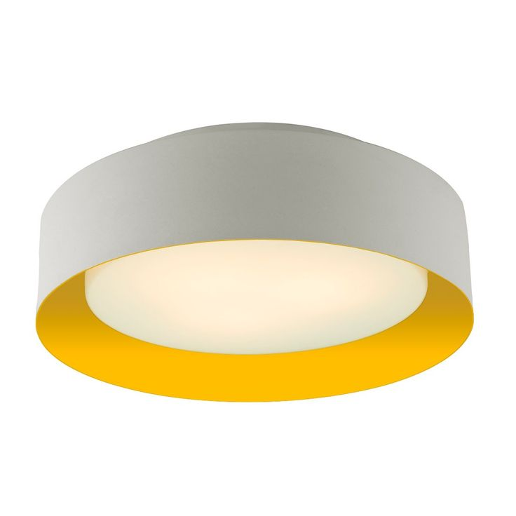Lynch White & Yellow Flush Mount Ceiling Light