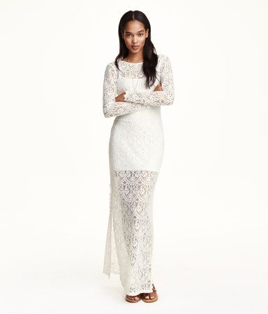 At this price you can get it larger and have it altered all over the place. Long Lace Dress | H&M US.