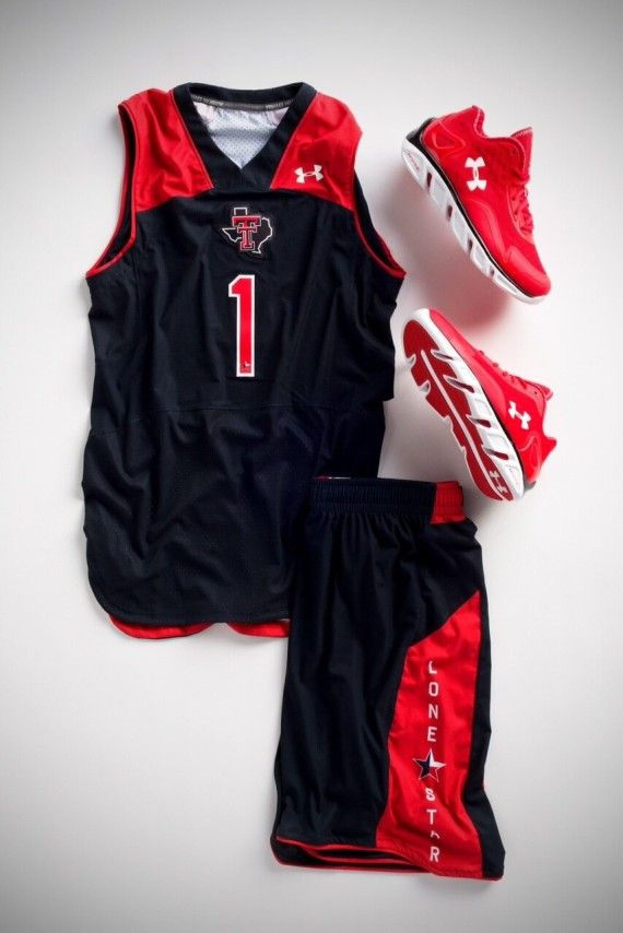 texas tech black lone star basketball uniforms 2013
