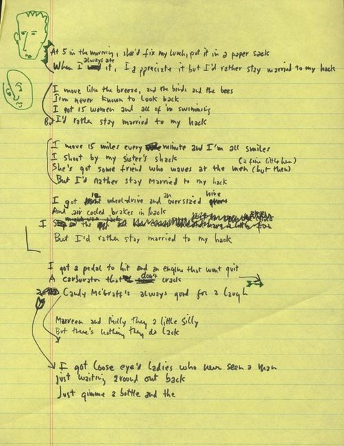 Exclusive: Bob Dylan's Hand-Written Lyrics For 'Married To My Hack' – Check 'Em Out Now! - DAYS OF THE CRAZY-WILD