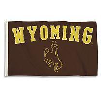 NCAA University of Wyoming Cowboys 3' x 5' Flag with Pole Mount Kit