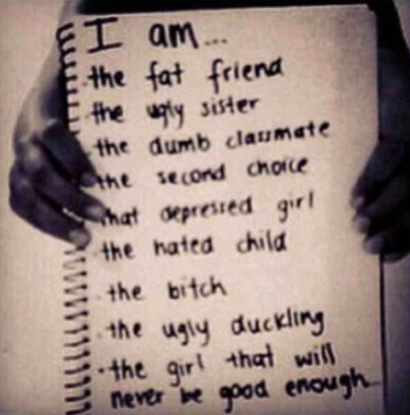Whats sad is that this has been me most of my life, and I never deserved it.....