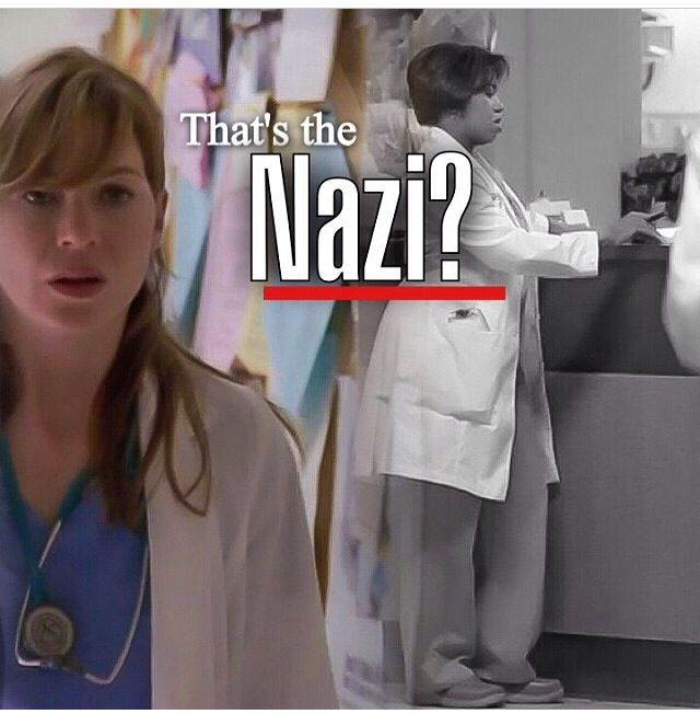 "That's the ""Nazi""??? #greys anatomy"