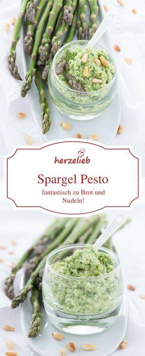 Spargel  Rezepte: Leckeres Spargel Pesto als Dip zu Fisch, zu Huhn, zu Brot  und zu Nudeln.   Aspargus recipe  - asparagus pesto