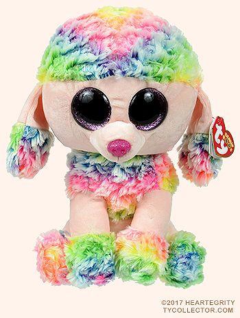 Rainbow (medium) - poodle - Ty Beanie Boos