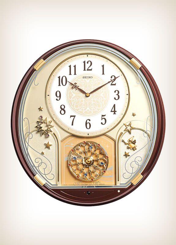 Seiko Qxm470brh Starry Night Melody Motion Wall Of Clocks Clock Seiko Starry Night