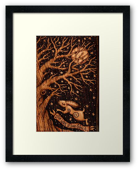 Your heart is free jumping hare by salixpyrography