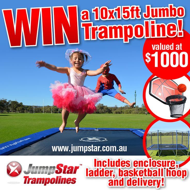 { Last chance to enter today! Ends tonight! }  W I N an amazing jumbo rectangle trampoline package for Christmas - delivered to your door with enclosure, hoop & ladder!  Enter here >>> http://bit.ly/Jump-Star-Trampoline