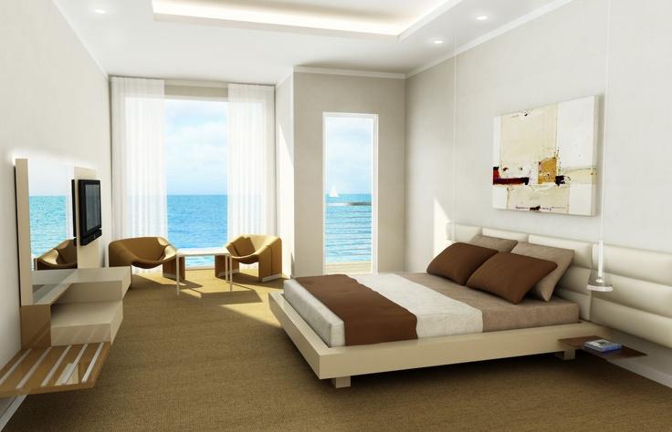 Hotel Bedroom, 3d Rendering