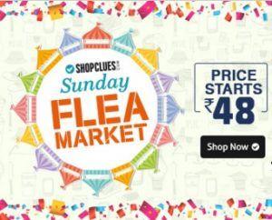 Shopclues Sunday Flea Market 01th may 2016- Deals @ Rs 25  Get Extra 5% Cashbacks