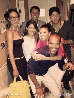 Eva Longoria Parties With Soccer Star Chicharito
