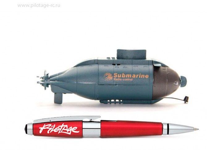 """Радиоуправляемая подводная лодка """"6CH Mini Submarine"""", RTR, электро, синяя - Подводные лодки - Корабли и лодки"""