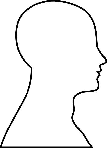head outline clip art