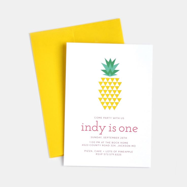 Image of pineapple invitations