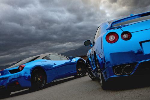 синие суперкары - Автомобили - Галерейка