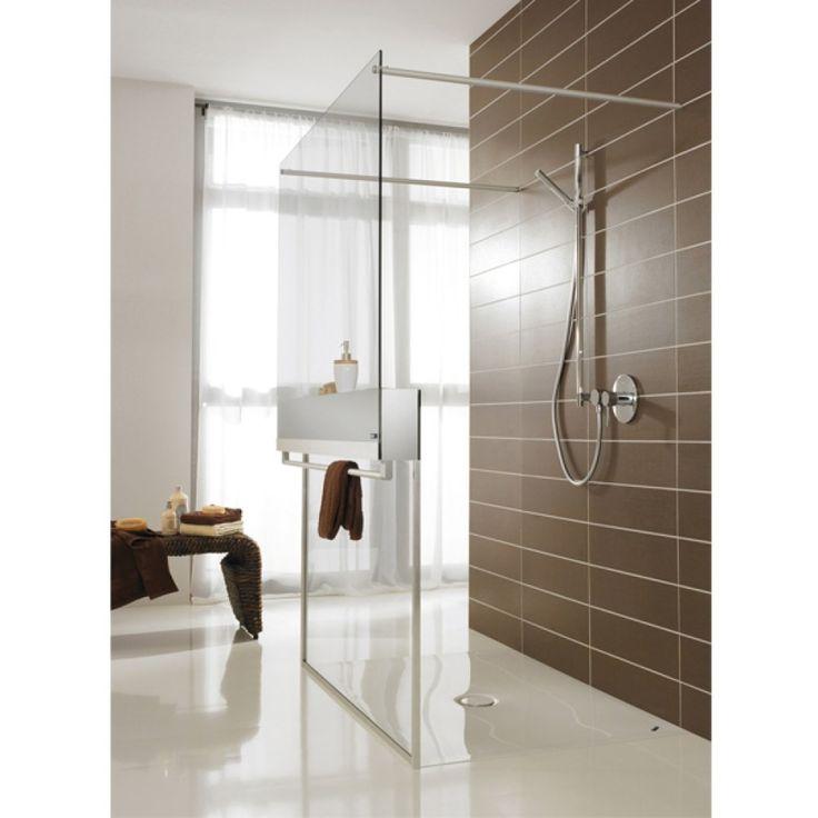 Duscholux Free loft inloopdouche vrijstaand 90 160x210cm edelmat profiel en helder glas - 407010000551070 - Sanitairwinkel.nl