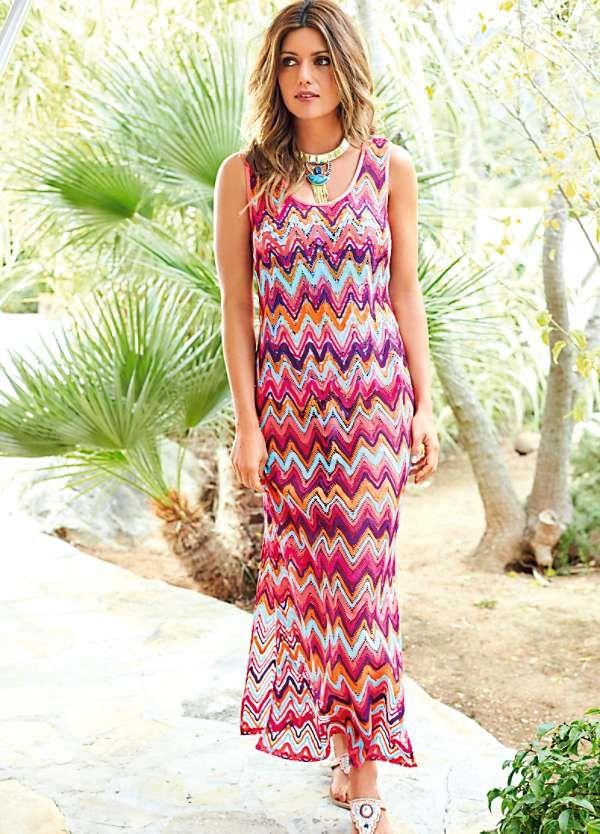Crochet Zig Zag Dress