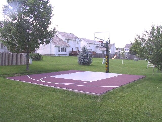 36 best ideas about backyard basketball courts on for Small basketball court