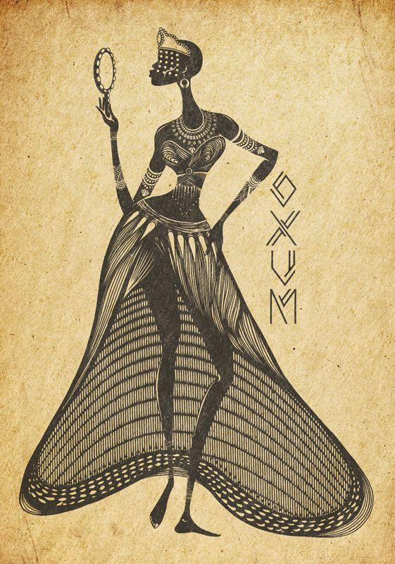 Oxum - Primeira ilustração da série Orixás.
