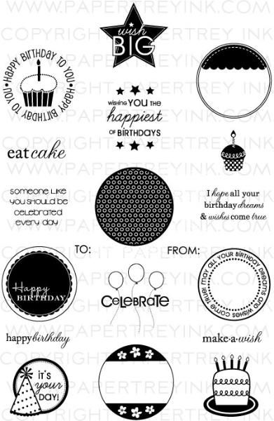 2011 Birthday Tags Stamp Set  Price: $24.00