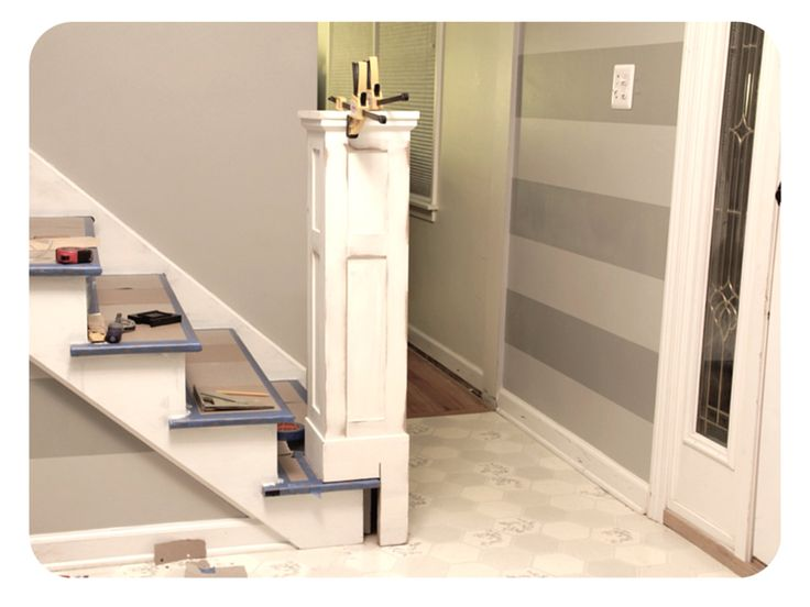 Image Result For Bed Built Over Stair Box: Build Box Newel Post As A Sleeve Over Existing Newel Post