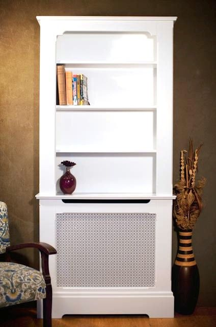 Radiator cabinet with bookcase