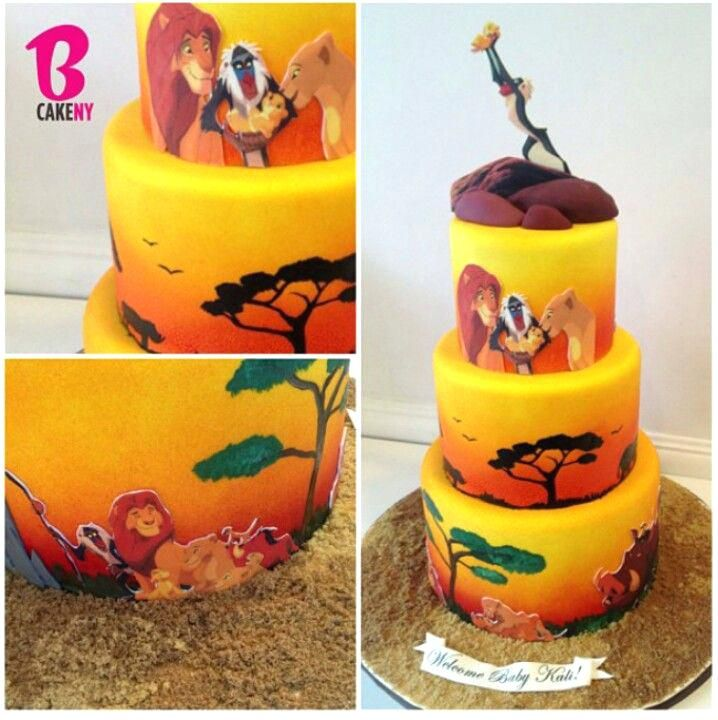Super Lion King Cake Toppers Decorating Ideas Lion King Cake Graduation Funny Birthday Cards Online Barepcheapnameinfo