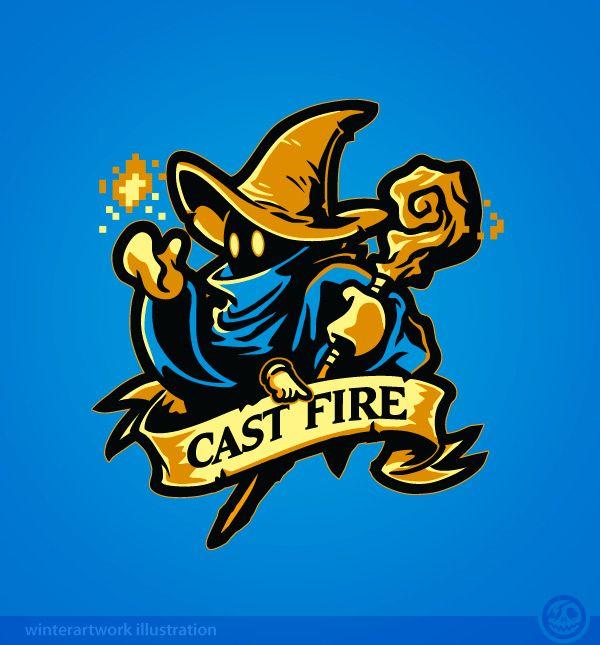 Cast Fire! (Final Fantasy series) by Winter-artwork