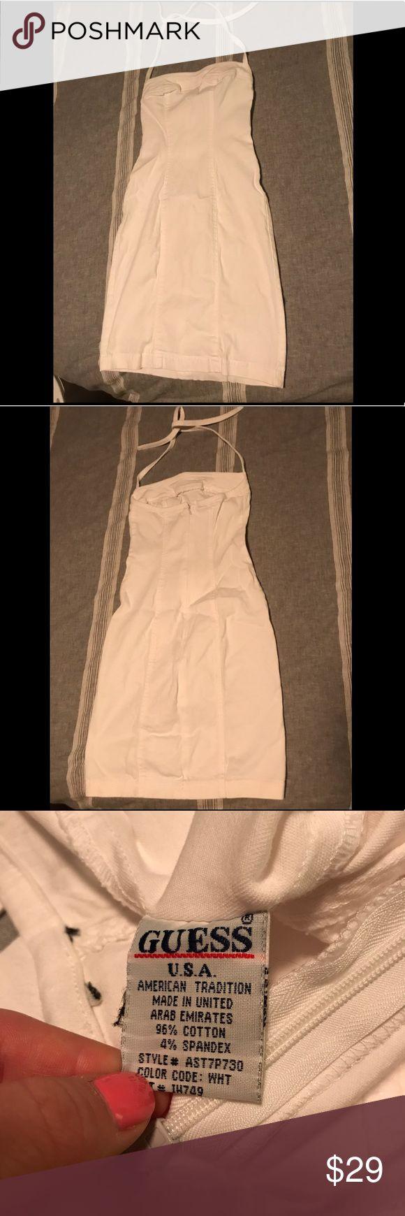 Guess Dress White Denim like Guess dress Guess Dresses Midi