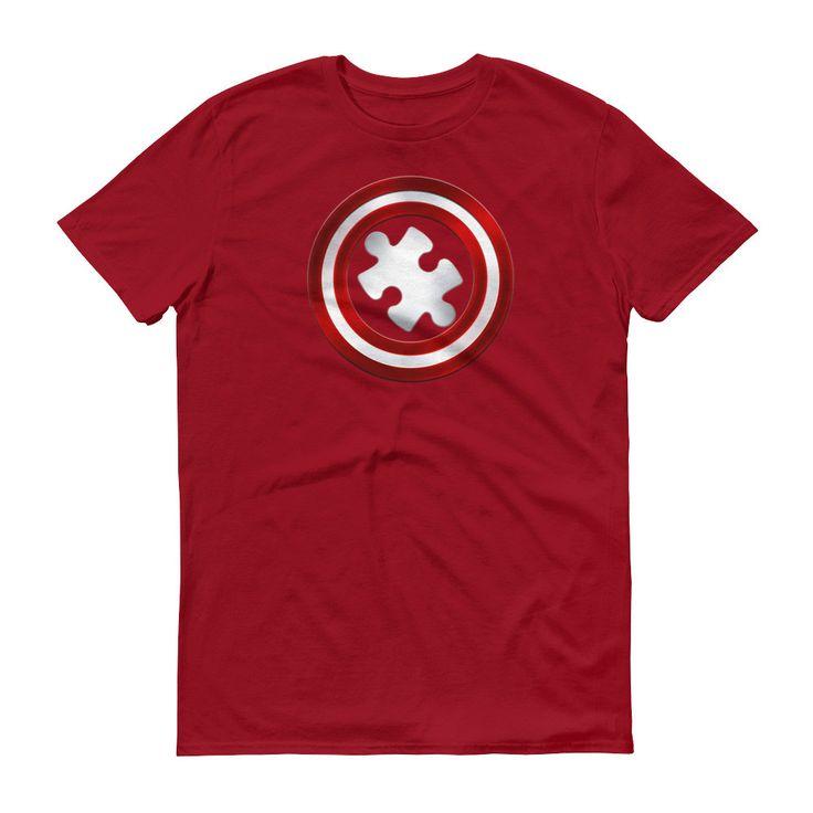 Captain Autism Superhero T-shirt - Autism Awareness Product