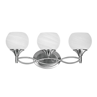 @Overstock - Add light to your bathroom with this beautiful brushed-nickel vanity. It features three lights, which help to evenly diffuse light throughout the room, and it comes already assembled and ready to install. All mounting hardware is included.http://www.overstock.com/Home-Garden/Transitional-3-light-Brushed-Nickel-Bath-Bar/6225564/product.html?CID=214117 $82.99